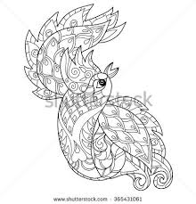 monochrome zentangle style sketch unicorn head stock vector