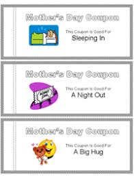coupon book templates mothers day pinterest template sunday