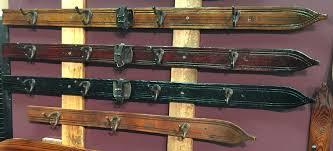 ski coat hooks vintage wall hanging ski coat rack vintagewinter