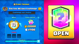 free clash of clans wizard 12 wins free electro wizard chest opening clash royale free