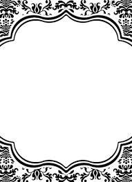 black and white invitations black and white damask invitations 5 x 7 cupcake couture