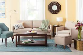 brown color combination living room ideas target furniture threshold soft orange and brown
