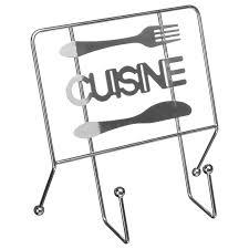 support livre cuisine porte livre de cuisine 22x22x11cm