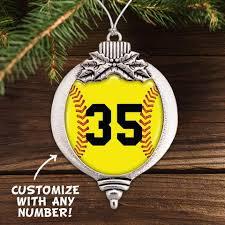 Softball Christmas Ornament - softball