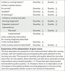 development of an audit instrument for nursing care plans in the