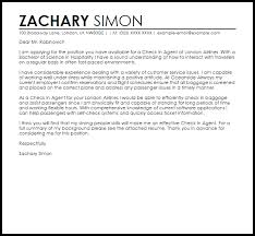 Sample Email Message With Attached Resume by Check In Agent Cover Letter Sample Livecareer