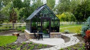 Backyard Green House Modern Greenhouse With Umique Shape Popular Greenhouse For