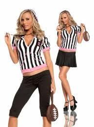 Football Referee Halloween Costume Sideline Sweetheart Referee Costume Costumes