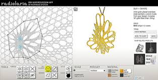 design your own jewelry with nervous system s new radiolaria app
