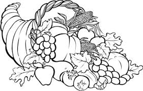 free clip of thanksgiving day clipart black and white 7618