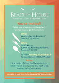beach house assisted living u0026 memory care you u0027re invited
