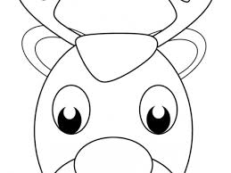 24 reindeer face coloring page rudolph reindeer pictures