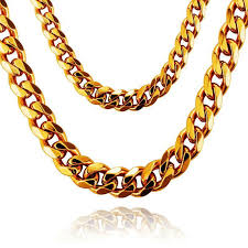 style gold necklace images Cuban style gold chain jpg
