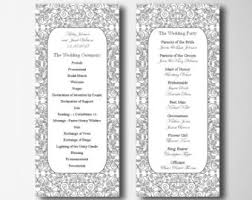 traditional wedding program template wedding program traditional wedding ceremony gold