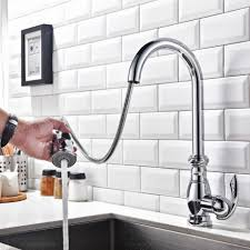 gooseneck kitchen faucet with pull out spray trends and