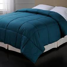 Colored Down Alternative Comforter Nate Berkus Down Alternative Teal Comforter