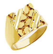men gold rings men s 14k gold nugget ring the apex