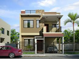 modern 2 storey home design with sleek exterior painting part of