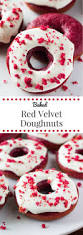 baked red velvet doughnuts just so tasty