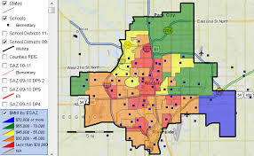 zip code map wichita ks wichita kansas school attendance zone demographics