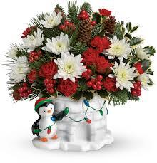 send a hug deck the igloo by teleflora floral designs