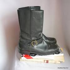 womens boots size 8 5 80s leather slouch boots size 10 m eur 42 uk 7 5 flat heel
