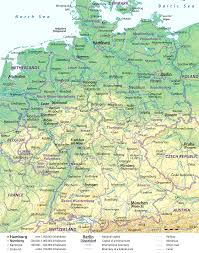 map of germany and surrounding countries with cities outline of germany tearing map and surrounding countries