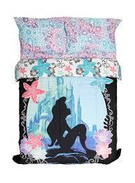 girls mermaid bedding disney the little mermaid ariel silhouette full queen comforter