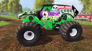 the original grave digger monster truck digger for farming simulator 2015