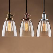 Vintage Pendant Lights For Kitchens Adjustable Vintage Industrial Pendant L Cafe Glass Brass Chrome
