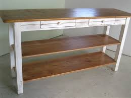 kitchen work island custom made barnwood kitchen island with 2 shelves by