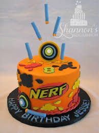 nerf fondant covered birthday cake confetti cake with strawberry