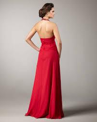 Lane Bryant Formal Wear Aidan Mattox Beaded Halter Flowy Gown In Red Lyst