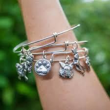 australian shepherd jewelry sterling silver bangle charm bracelet