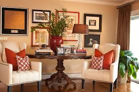end table decorating ideas end table decor ideas family room traditional with tufted chair dark