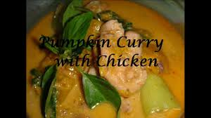 Thai Red Pumpkin Curry Recipe by Pumpkin Curry Chicken Youtube