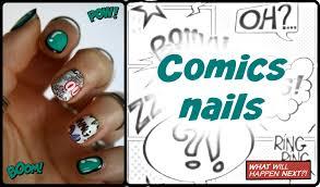 comics nails tutorial cartoon nail art youtube
