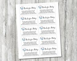 baby shower bring a book instead of a card poem whale book request card printable books for baby card book