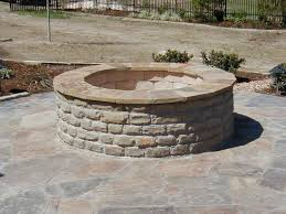 how to build a outdoor fire pit with stone laura williams