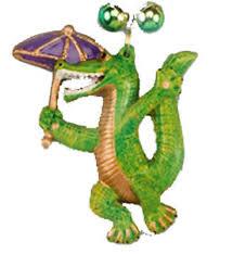 mardi gras alligator alligator second line mardi gras bead necklace cajun