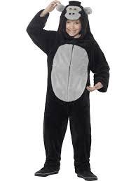child gorilla costume jumpsuit ape girls boys jungle kids