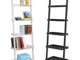 36 leaning ladder 5 shelf bookcase mainstays leaning ladder 5