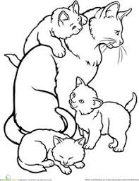 cats kitten coloring pages 34 kids cat free