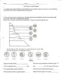 the history of life worksheet 6th 8th grade worksheet lesson