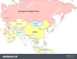 Asia Map With Country Names by South And East Asia Free Map Blank Outline Map Beauteous Asia With