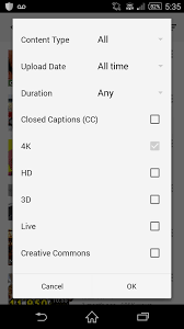 google updates youtube app for android with 4k video search apk