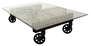 cast iron glass table best reclaimed cast iron coffee table with glass top industrial