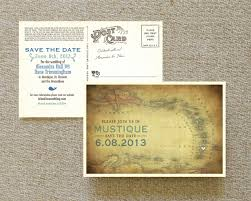 Postcard Save The Dates Vintage Map Postcard Save The Date Mustique