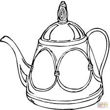 teapot coloring page theotix me