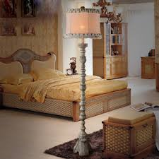 Shabby Chic Bedroom Lamps by Shabby Chic Bedside Lamps With Orange Royal Fabric Shade Tassels